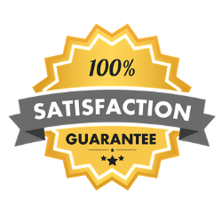 Stampede treatment & service - satisfaction guaranteed icon and badge